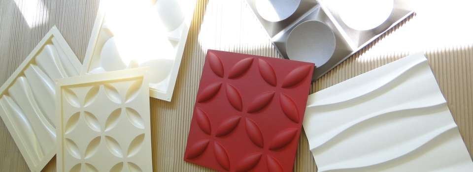 Cиликоновые формы для 3D панелей из гипса