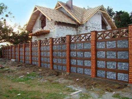 бетонные заборы. фото