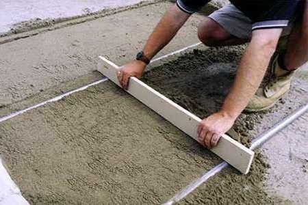 цементная стяжка с фиброволокном