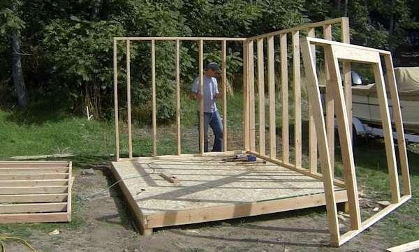 Сборка каркаса конструкции можно начинать не раньше, чем после того, как фундамент