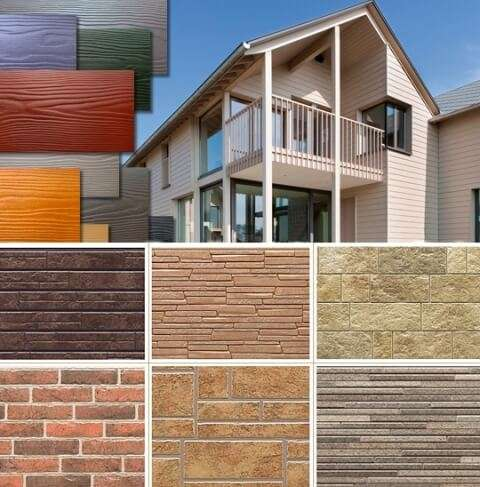 Отделка фасадов домов современными материалами: фото и особенности
