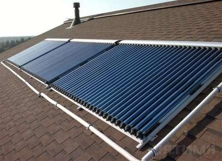 Солнечный коллектор представляет собой панель толщиной 10 см с площадью 1 × 2 м.